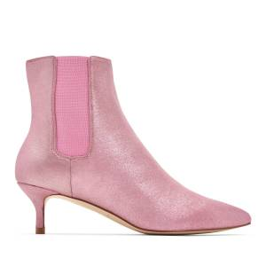 Katy Perry Heeled Boot Metallic in Pink Size 7.5   The Joan