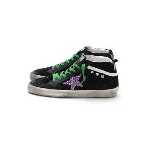 Hampden Mid Star Sneakers in Black Damask Velvet/Multiglitter Star