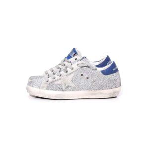 Hampden Superstar Sneakers in Silver Glitter/Navy/Ice Star