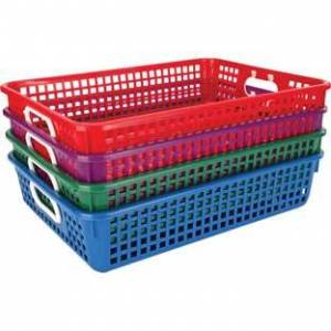 Classroom Paper Baskets Royal Colors by Really Good Stuff Inc