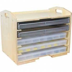Supply Rack With 3 Storage Cases And 2 Mesh Trays by Really Good Stuff Inc