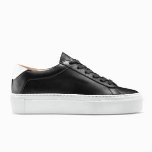 KOIO Women's Platform Sneaker Nero Black Leather Platform 10 (US) / 40 (EU)