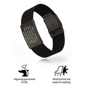 RoadId Wrist ID Elite Silicone Clasp 19mm Graphite