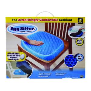 Egg Sitter Astonishingly Comfortable Seat Cushion Polyacrylamide Gel Core 1 pk