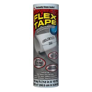 FLEX TAPE 12 in. W x 10 ft. L Clear Waterproof Repair Tape