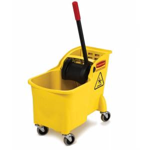 Rubbermaid Commercial 31 qt. Wringer Bucket Yellow