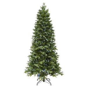 Polygroup 7-1/2 ft. Slim Incandescent 390 count Color Changing Christmas Tree
