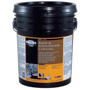Black Jack Gloss Black Asphalt Roof And Foundation Coating 4.75 gal.