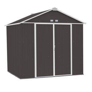 Arrow Ezee 8 ft. x 7 ft. Metal Vertical Peak Storage Shed without Floor Kit