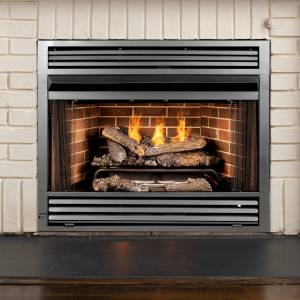 GHP Pleasant Hearth Gray Traditional Fireplace Insert