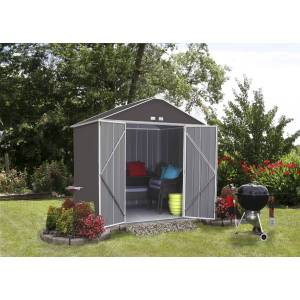 Arrow Ezee 8 ft. W x 7 ft. D Metal Vertical Storage Shed Without Floor Kit