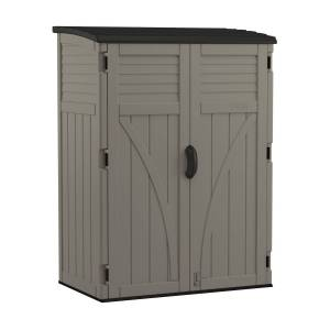 Suncast 4 ft. x 2 ft. Plastic Vertical Storage Shed with Floor Kit