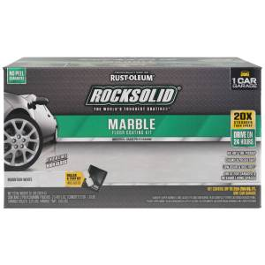 Rust-Oleum RockSolid Marble Mountain White Floor Coating Kit 80 oz.