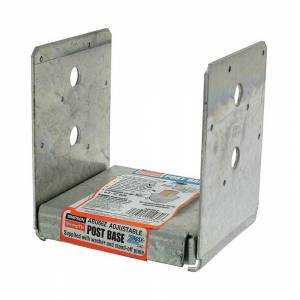 Simpson Strong-Tie ZMAX 3.13 in. H x 5.5 in. W 12 Ga. Galvanized Steel Post Base