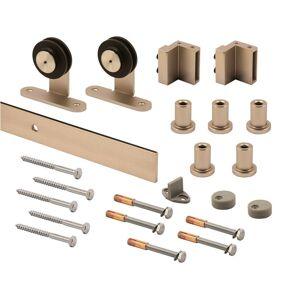 PRiME Line Satin Nickel Steel Barn Door Hanger Kit 1 pk