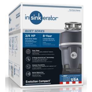 InSinkErator Evolution Compact 3/4 hp Continuous Feed Garbage Disposal