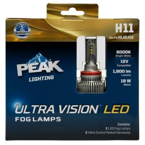 Peak Ultra Vision LED Fog Automotive Bulb H11