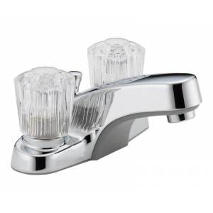 Peerless Core Chrome Two Handle Lavatory Faucet 4 in.
