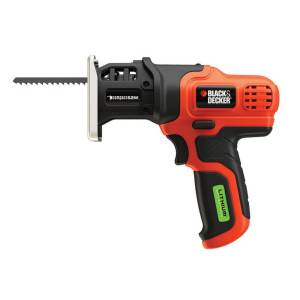 Black and Decker 7.2 volt Cordless Brushed Reciprocating Saw Kit (Battery & Charger)