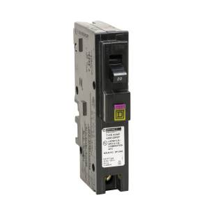 Square D 20 amps Arc Fault/Ground Fault Single Pole Circuit Breaker