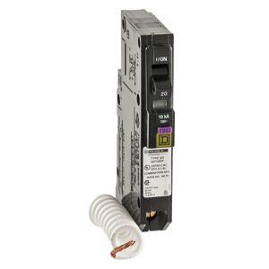 Square D QO 20 amps Arc Fault/Ground Fault Single Pole Circuit Breaker