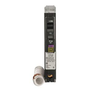 Square D QO 15 amps Arc Fault/Ground Fault Single Pole Circuit Breaker
