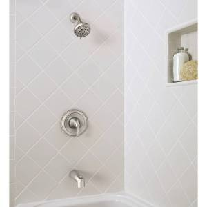 Moen Tiffin 1-Handle Brushed Nickel Tub and Shower Faucet
