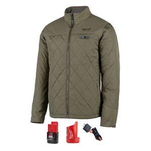 Milwaukee M12 AXIS L Long Sleeve Unisex Full-Zip Heated Jacket Kit Olive