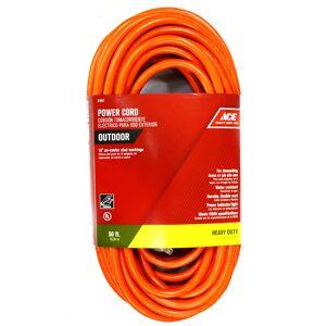 Ace Indoor and Outdoor 50 ft. L Orange Extension Cord 12/3 SJTW