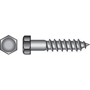 Hillman 5/16 in. x 6 in. L Hex Hot Dipped Galvanized Steel Lag Screw 50 pk