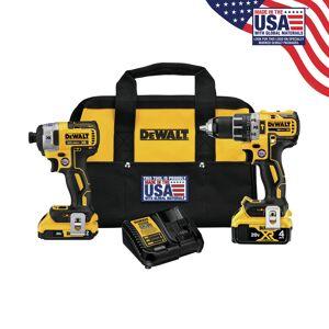 DeWalt 20V MAX XR 20 volt Cordless Brushless 2 tool Hammer Drill and Impact Driver Kit