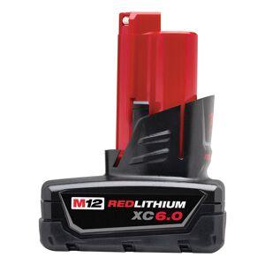 Milwaukee M12 REDLITHIUM XC6.0 12 volt 6 Ah Lithium-Ion Battery Pack 1 pc.