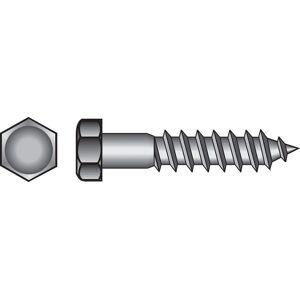 Hillman 3/8 in. x 2 in. L Hex Hot Dipped Galvanized Steel Lag Screw 100 pk