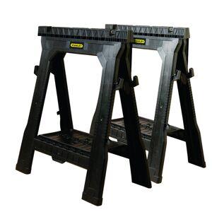 Stanley 32 in. H x 26-7/8 in. W x 2-1/8 in. D Folding Sawhorse 1000 lb. capacity Black 1 pk