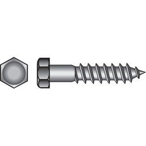 Hillman 5/16 in. x 3-1/2 in. L Hex Zinc-Plated Steel Lag Screw 50 pk