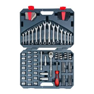 Crescent Assorted Sizes x 3/8 in. drive Metric and SAE 6 and 12 Point Mechanic's Tool Set 128 p