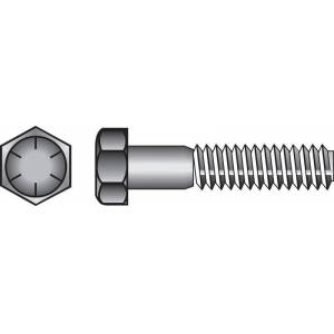 Hillman 5/8 in. Dia. x 2-1/2 in. L Heat Treated Steel Hex Head Cap Screw 25 pk