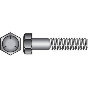 Hillman 5/8 in. Dia. x 3-1/2 in. L Heat Treated Zinc Steel Hex Head Cap Screw 25 pk