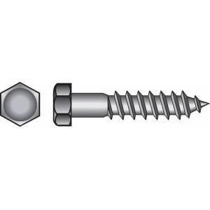 Hillman 3/8 in. x 4 in. L Hex Stainless Steel Lag Screw 25 pk