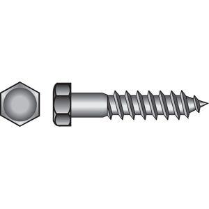 Hillman 5/8 in. x 6 in. L Hex Zinc-Plated Steel Lag Screw 25 pk
