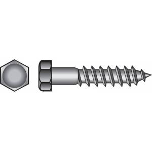 Hillman 1/4 in. x 4-1/2 in. L Hex Hot Dipped Galvanized Steel Lag Screw 100 pk