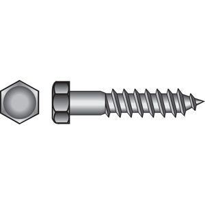 Hillman 1/2 in. x 8 in. L Hex Zinc-Plated Steel Lag Screw 25 pk