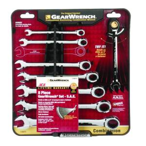 Ace Multiple x 9.8 in. L SAE Gearwrench Set 8 pc.