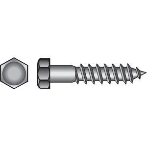 Hillman 1/2 in. x 6 in. L Hex Zinc-Plated Steel Lag Screw 25 pk