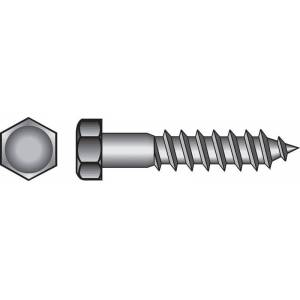 Hillman 3/8 in. x 3-1/2 in. L Hex Stainless Steel Lag Screw 25 pk