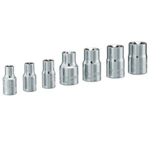 Craftsman 16 mm x 1/4 and 3/8 in. drive Metric 6 Point External Torx Socket Set 7 pc.