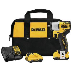 DeWalt 20V MAX 12 volt 3/8 in. Cordless Brushless Impact Wrench Kit (Battery & Charger Included