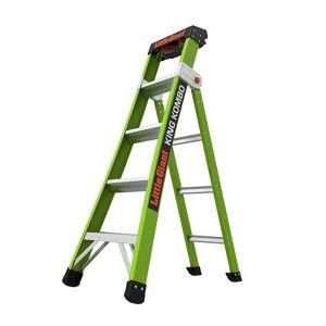Little Giant King Kombo 8 ft. H x 24.5 in. W Fiberglass Articulating Ladder Type IAA 375 lb. ca
