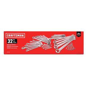 Craftsman 12 Point Metric and SAE Combination Wrench Set 32 pc.