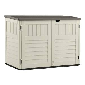 Suncast The Stow-Away 5 ft. x 3 ft. Plastic Horizontal Storage Shed with Floor Kit